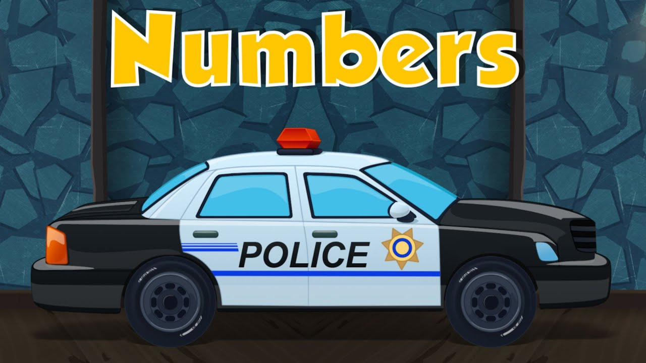 police car learn numbers learning video for kids toddlers youtube