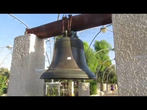 Jerusalem Israel  Liberty Bell Park - a replica of the The Liberty Bell, Philadelphia, United States
