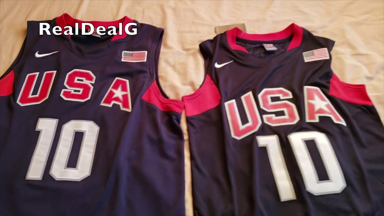 free shipping 50cd9 96c6c KOBE BRYANT TEAM USA JERSEY REAL VS FAKE 2018