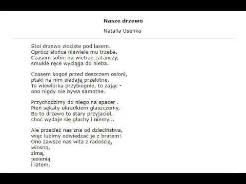 Audiobook Dla Wiersza Nasze Drzewo Klasa 3 Mowi Agnieszka