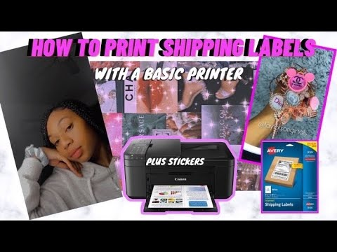 HOW I MAKE MY ADHESIVE SHIPPING LABELS W/ A BASIC PRINTER + STICKERS|Taylor's Originals