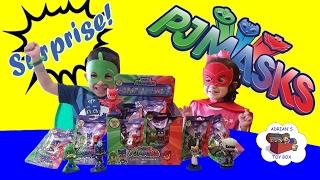 Disney Jr Pj Mask Unboxing Blind Bags Toy Surprise Catboy Gekko Owlette Romeo Lu