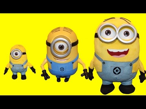 Learn Sizes from Big to Biggest with the Minions Toys | Rainbow Learning