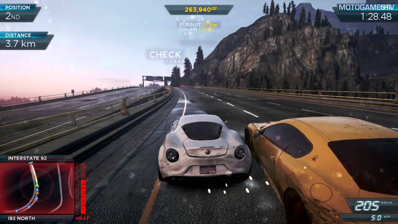 Need for Speed: Most Wanted 2012 - Alfa Romeo 4C Concept Gameplay ...