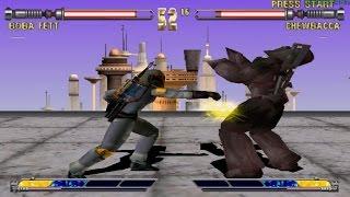 Star Wars Masters of Teras Kasi PS1 (Boba Fett) Part 1 Arcade Mode HD