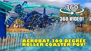 Acrobat VR 360 Roller Coaster POV Nagashima Spaland Japan B&M Flying Coaster