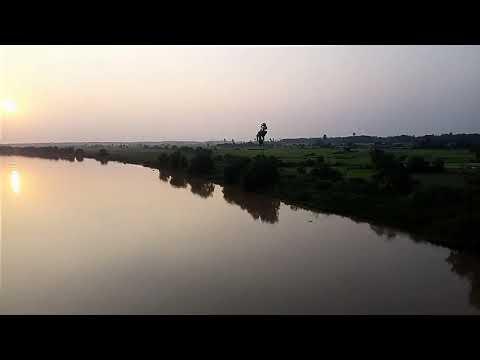River Baitarani  near Chandbali.  Bhadrakh with full of crocodile  escaped from Bhitarakanika Sanctu