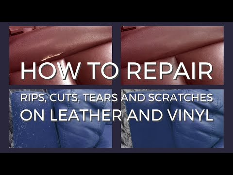 Repair rips, cuts, tears and scratches on leather and vinyl