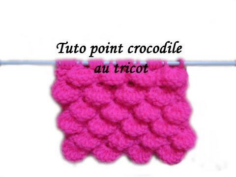 Les tutos de fadinou tuto tricot point crocodile au tricot - Point tricot ajoure facile ...