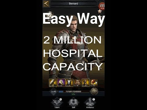 Increase Hospital Capacity Guide, +2 Million. Clash Of Kings Tips And Tricks