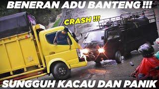 Download SOPIR SPONTAN PANIK !!! Bersikeras Tidak Mau Mengalah, Laga Adu Banteng Terjadi di Sitinjau Lauik