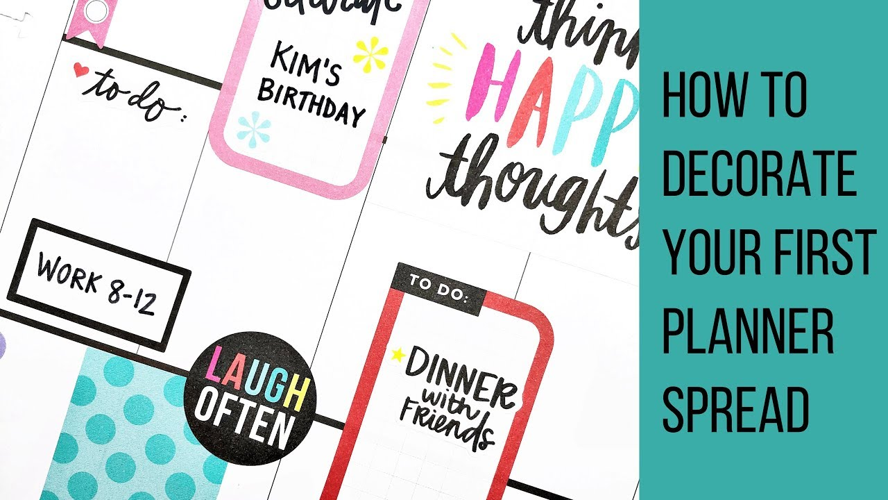 Planner 101 // How to Decorate Your First Planner Spread // Classic Happy Planner