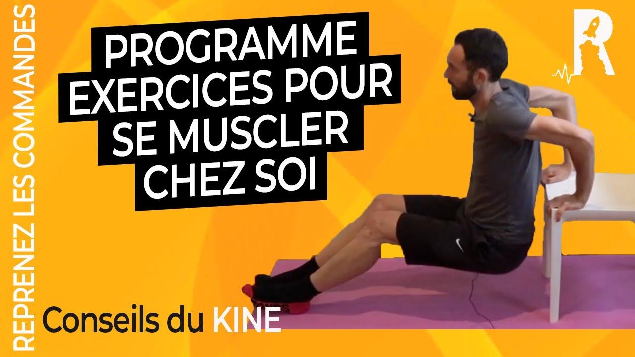 10 Exercices De Renforcement Musculaire Sans Materiel Complet Full Body Youtube