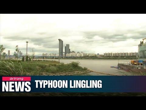 Typhoon Lingling hits Korean Peninsula