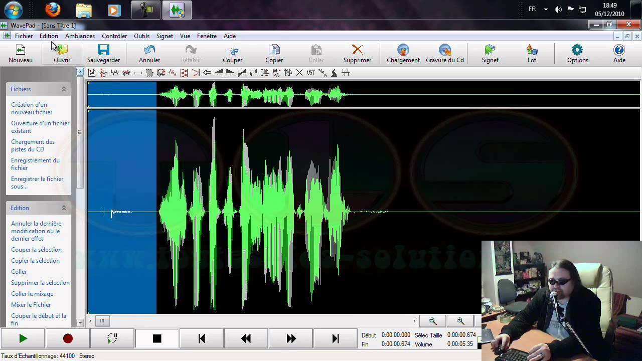 Présentation du programme Wavepad Sound Editor - YouTube