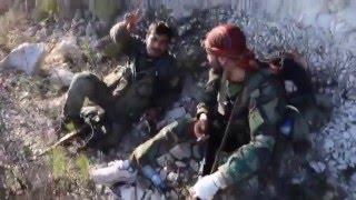 Сирия Февраль 2016 САА освобождает город Кансаба провинция Латакия