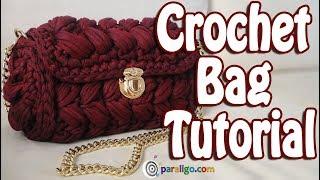 Crochet Bag Tutorial Zig Zag Puff Stitch Purse