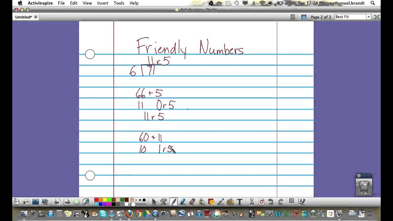 fifth grade everyday math lesson friendly numbers mov