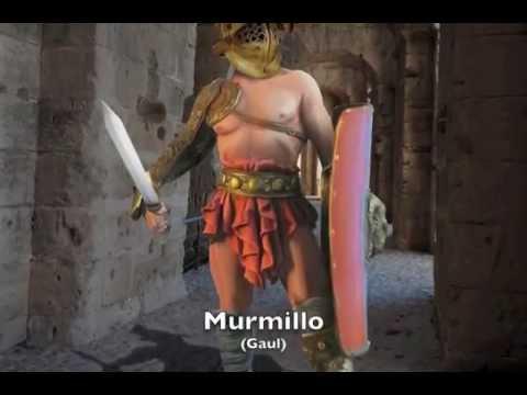 The Age of Gladiators. Murmillo Roman Gladiator at El Jem