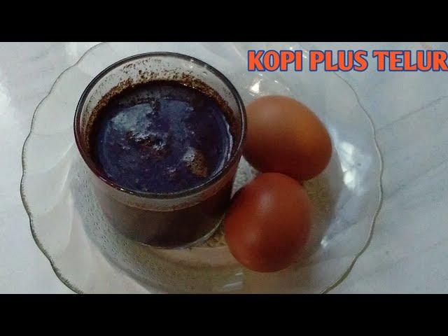 Ricikan Kopi Panas Campur Telur Mentah, Ini Khasiatnya
