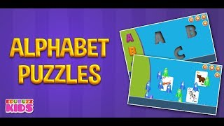 Alphabet Puzzles For Toddlers | Free App from EduBuzzKids for Android Phones/Tablets