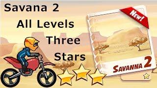 Bike Race: Savana 2 All Levels 1-8 Three Stars NORMAL BIKE PERFECT RUNS!