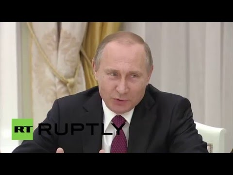 Russia: Putin pokes fun at Kerry's briefcase as both commend Syria progress