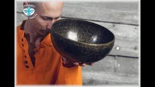 ПОЮЩИЕ ЧАШИ ОБУЧЕНИЕ СПБ. 35.8 см. 81 Гц. нота Ми и 239 Гц. нота Ля диез. Тибетская поющая чаша