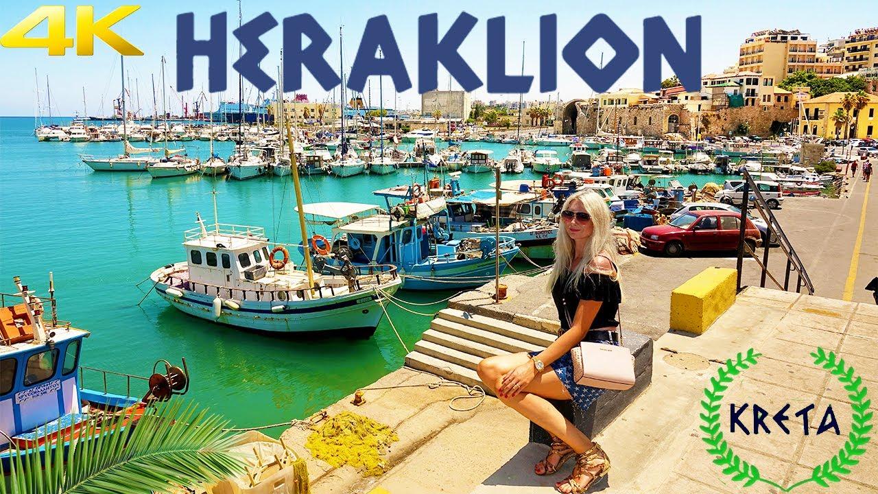 HERAKLION CRETE GREECE 4K 2020 IRAKLION