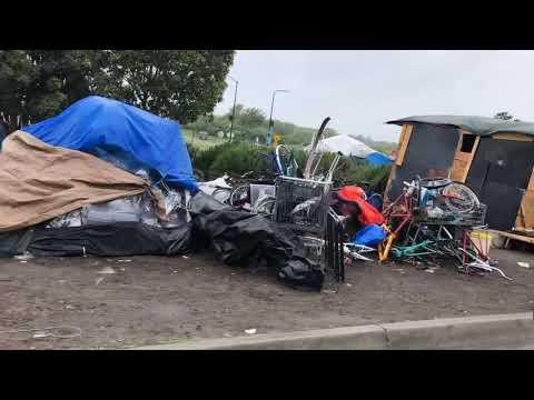Homeless Encampments Berkeley CA Gilman & University Ave Freeway On/Off Ramps 80 & 580 April 4, 2020