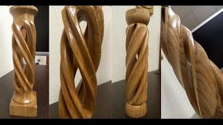 Пустотелые колонны - как это сделано /Hollow spiral сandlestick - how it's made