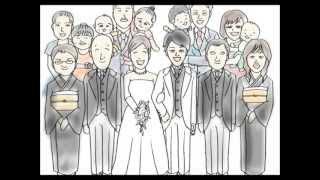Repeat youtube video 結婚式  サプライズ パラパラ漫画
