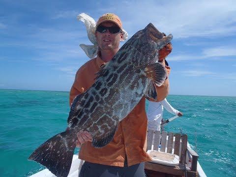 Fishing For Large Black Grouper & Barracuda In Belize