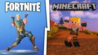 Tańce z FORTNITE zostały dodane do MINECRAFT!
