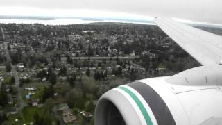 """Gusty Approach into Seattle """"SeaTac"""" Tacoma Airport (March 31st, 2011)"""