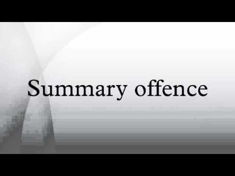 Summary offence