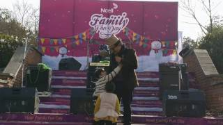 Wilson Bikram Rai aka Takme Buda on stage - the comedy king of Nepal