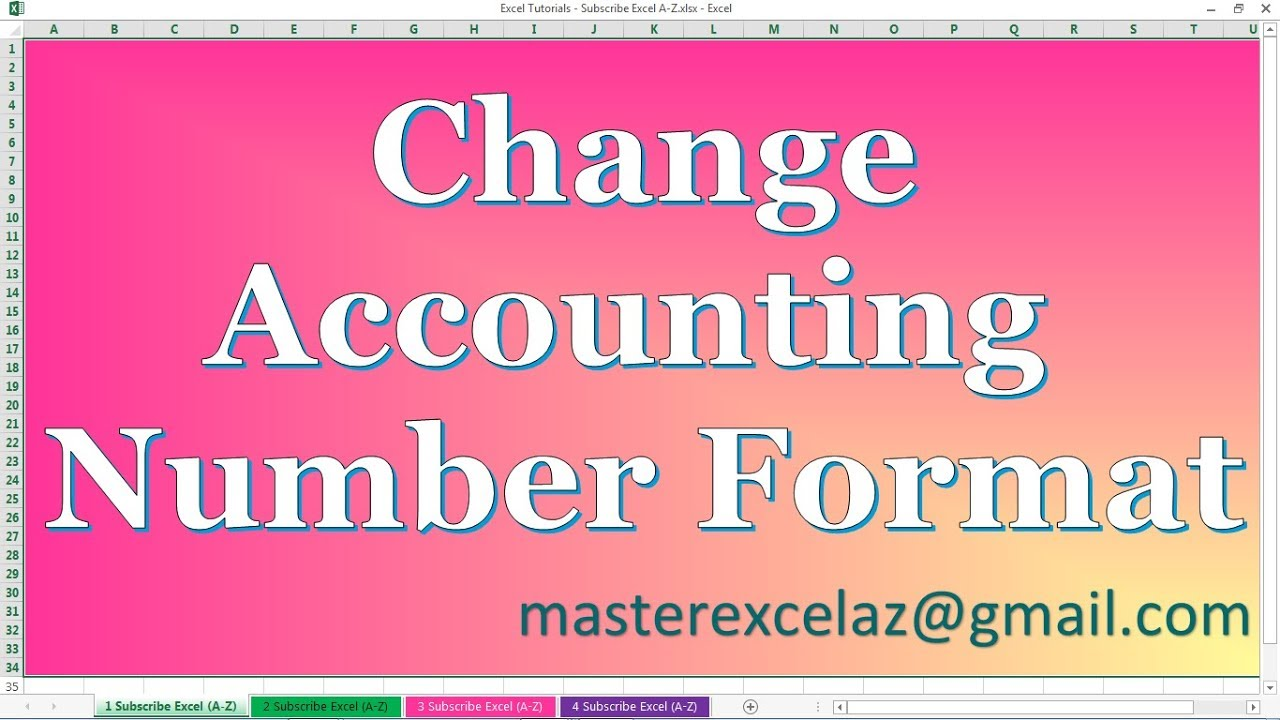 How to Change Accounting Number Format in Excel 2013 - YouTube