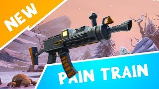 PAIN TRAIN Gameplay! Cool Gun With A Weird Skin? Fortnite Save The World