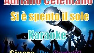 Adriano Celentano - Si è spento il sole karaoke