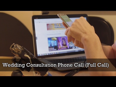 Wedding Consultation Phone Call For Out Of Town Clients DJ Cutt