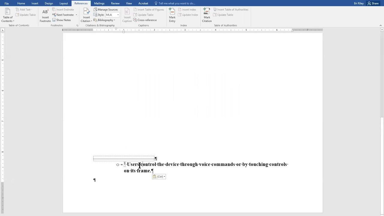 how to add a footnote in microsoft word 2016 mla format youtube