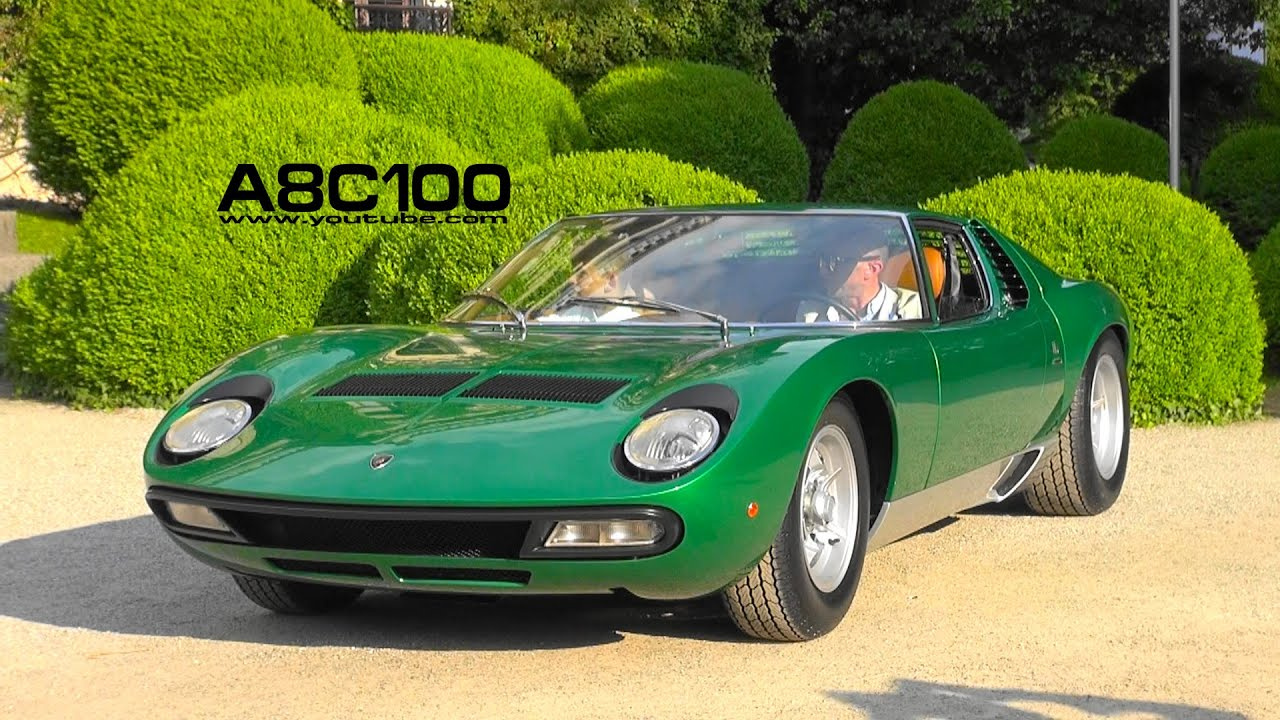 First Lamborghini Miura P400 Sv Fully Restored Villa D Este 2016 Youtube