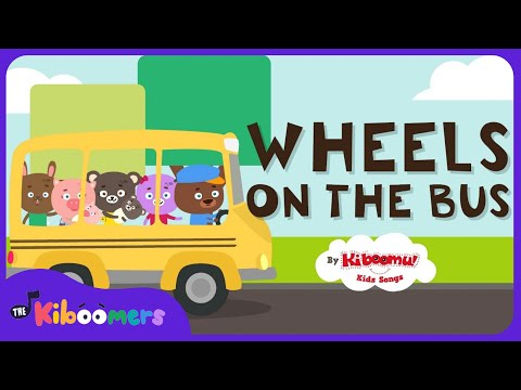 The Wheels On The Bus Go Round And Round | Nursery Rhymes | Fun Kids Songs
