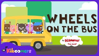 The Wheels on the Bus Go Round and Round Song | Fun Kids Songs | The Kiboomers