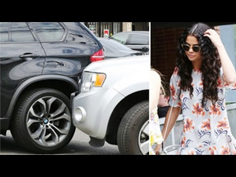 Selena Gomez in a Car Accident Caught on Tape - Paps Still ask about Justin Bieber