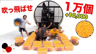 If 10,000 Ping Pong Balls Are Sent Flying With a Giant Fan, How Many Can You Catch?