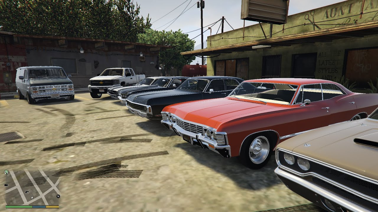 GTA 5 Real Car Mod American Muscle Cars - YouTube
