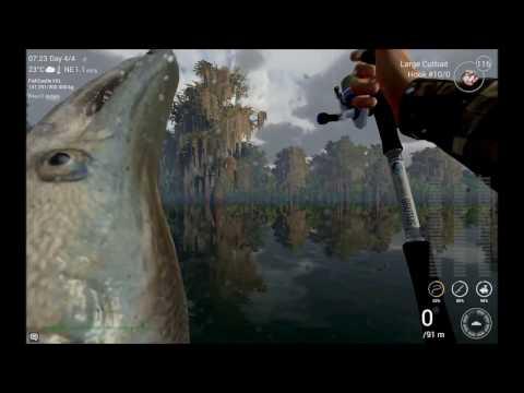 Fishing Planet Louisiana 46kg Gar and 32.7kg Flathead v0.7.10