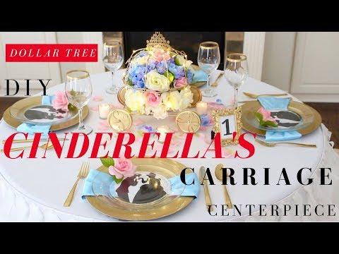 DIY CINDERELLA'S CARRIAGE CENTERPIECE | CINDERELLA PARTY IDEAS | DISNEY THE PARTY